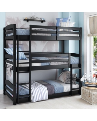 Better Homes and Gardens Tristan Triple Bunk Bed, Black