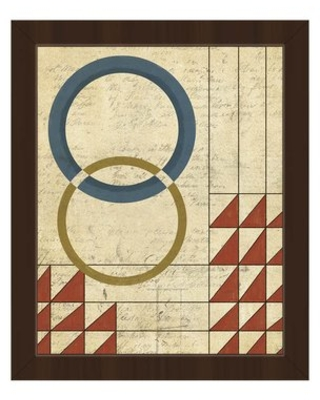 """Calculations of Balance Red Framed Graphic Art on Canvas Click Wall Art Format: Espresso Framed, Size: 10.5"""" H x 12.5"""" W"""