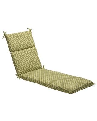 """Pillow Perfect Outdoor/Indoor Hockley Pear Chaise Lounge Cushion, 72.5"""" x 21"""", Green"""