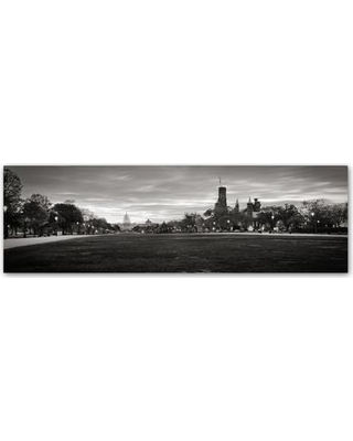 """Trademark Fine Art National Mall Capitol Sunrise' Gregory O'Hanlon Photographic Print on Wrapped Canvas GO0054-C Size: 6"""" H x 19"""" W x 2"""" D"""