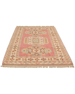 """One-of-a-Kind Hand-Knotted 1980s 6'10"""" x 9'3"""" Wool Area Rug in Beige"""