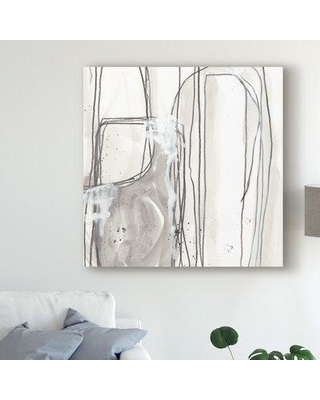 """East Urban Home 'Abstract Logic I' Acrylic Painting Print on Wrapped Canvas W000506248 Size: 35"""" H x 35"""" W x 2"""" D"""