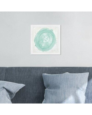 """House of Hampton® 'Legno in Verde Due' Graphic Art Print X113203682 Format: White Framed Size: 12"""" H x 12"""" W x 2"""" D"""
