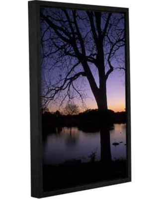 """ArtWall Texas Sunset on the Lake by Kathy Yates Framed Photographic Print 0yat059 Size: 12"""" H x 18"""" W"""