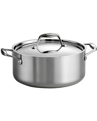 Tramontina Gourmet Tri-Ply Clad Induction-Ready Stainless Steel 5 QT. Covered Dutch Oven