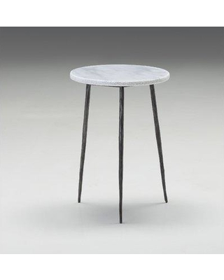 Brayden Studio Atropos Tall End Table BYST7521 Top Color: White Marble