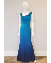 Ombre Shimmer Gown, Peacock/Navy