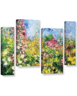 """Darby Home Co Wild Sweetness 4 Piece Painting Print on Wrapped Canvas Set DRBC3020 Size: 36"""" H x 54"""" W x 2"""" D"""