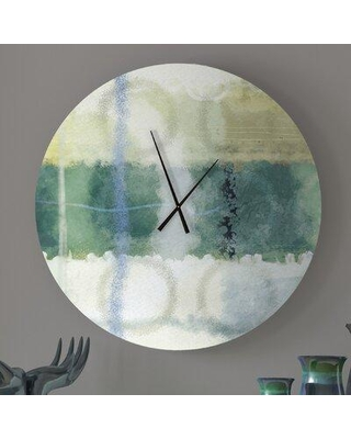 Deals For Latitude Run Like Minded Family Abstract Metal Wall Clock Metal In Green Size Small Wayfair 87dcd2e195484b5c9fd8cbe4cd65a95a