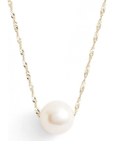 Women's Poppy Finch Solitaire Cultured Pearl Pendant Necklace