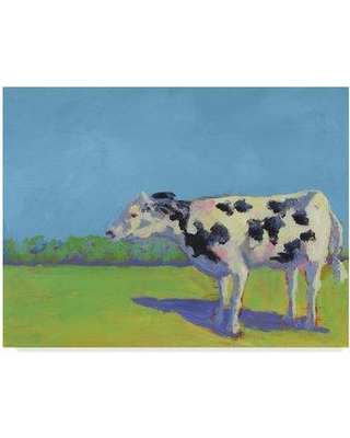 """August Grove 'Cow Pals III' Acrylic Painting Print on Wrapped Canvas W001236620 Size: 24"""" H x 32"""" W x 2"""" D"""