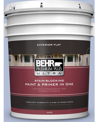 BEHR ULTRA 5 gal. #MQ5-45 Movie Magic Flat Exterior Paint and Primer in One
