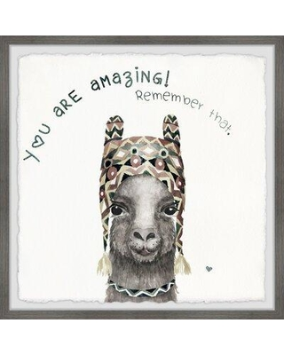 """Ebern Designs 'You are Amazing III' Framed Graphic Art Print W000990850 Size: 18"""" H x 18"""" W x 1.5"""" D"""
