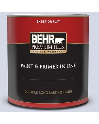 Discover Deals On Behr Premium Plus 1 Qt S540 1 So Blueberry Flat Exterior Paint And Primer In One