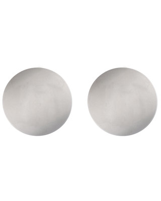 Silver Round Shank Buttons - 21mm