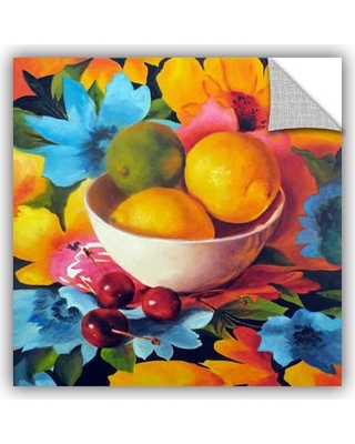"ArtWall Cherry Surprise by Marina Petro Framed Painting Print JJM6306 Size: 18"" H x 18"" W"