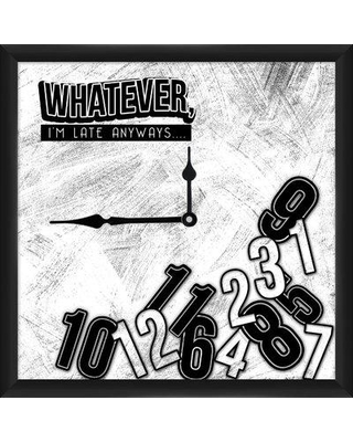 """PTM Whatever 12"""" Wall Clock 1-19386"""