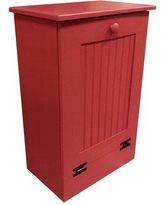 Rebrilliant Manual Solid Wood Manual Lift Pull Out Trash Can REBR2065 Color: Red