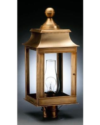 Northeast Lantern Concord 23 Inch Tall 1 Light Outdoor Post Lamp - 5633-DAB-CIM-CLR