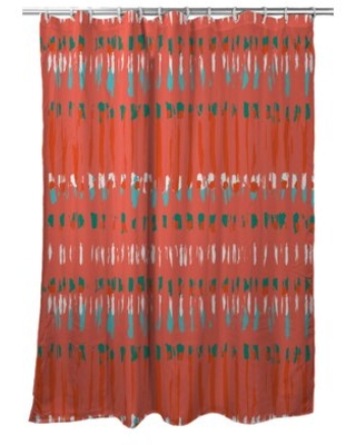 Carsten Tribal Coral Single Shower Curtain