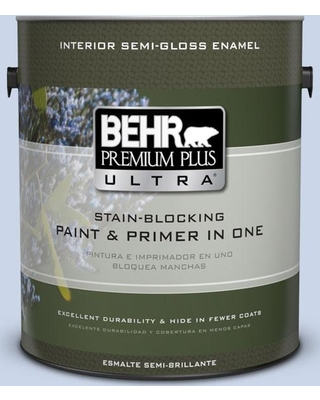 BEHR Premium Plus Ultra 1 gal. #590A-2 Monet Lily Semi-Gloss Enamel Interior Paint and Primer in One