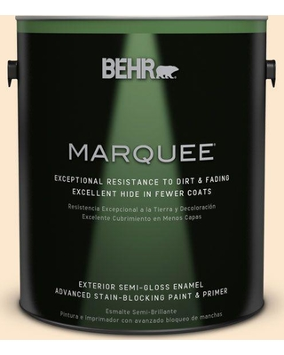 BEHR MARQUEE 1 gal. #M240-1 Bay Scallop Semi-Gloss Enamel Exterior Paint and Primer in One