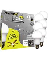 Soft Sunlight Hot Incandescent Bulbs MiracleLED 602041 Selfie Light 4-Pack Replacing 60W Old