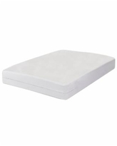 All-In-One Bed Zippered Mattress Cover with Bug Blocker, Queen - White