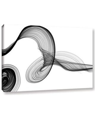 """Wade Logan 'Abstract Poetry in Black and White 155' Graphic Art Print on Canvas WLGN8571 Size: 24"""" H x 36"""" W x 2"""" D"""