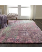 """Ivy Bronx Carnglass More Hand-Tufted Pink Shag Area Rug CG280118 Rug Size: Rectangle 7'6"""" x 9'6"""""""