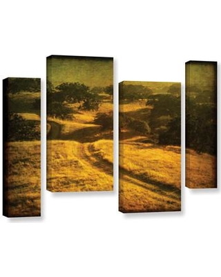 """Loon Peak Ranch Road and Oak Savanah 4 Piece Photographic Print on Wrapped Canvas Set LOON3211 Size: 24"""" H x 36"""" W x 2"""" D"""