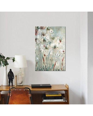 """East Urban Home 'Night Flowers' Print on Canvas ESBH6148 Size: 26"""" H x 18"""" W x 0.75"""" D"""