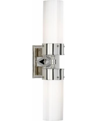 Visual Comfort and Co. Thomas O'Brien Marais 19 Inch 2 Light Bath Vanity Light - TOB 2315PN-WG