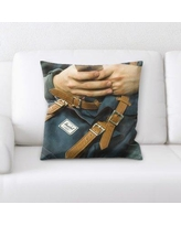 East Urban Home Backpack Throw Pillow W000217193