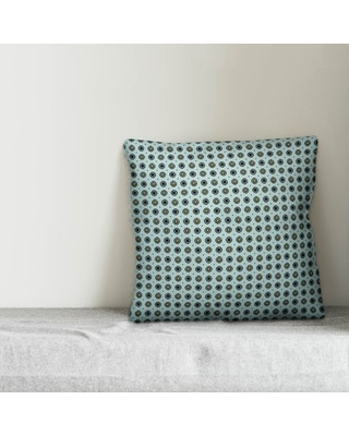 "South Perth Square Throw Pillow Winston Porter Color: Blue, Size: 16"" x 16"", Location: Indoor"