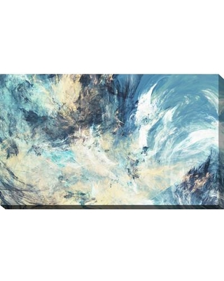 """PicturePerfectInternational 'Feeling Blue' Painting Print on Wrapped Canvas 704-3884 Size: 18"""" H x 30"""" W x 1"""" D"""