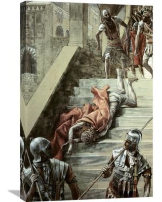 Global Gallery 'Holy Stair' by James Tissot Painting Print on Wrapped Canvas GCS-280336-30-142