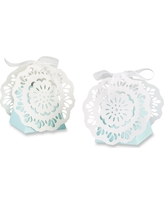 Kate Aspen Set Of 12 Lace Favor Box Blue