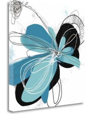 """Tangletown Fine Art 'The Flower Dances 2' by Jan Weiss Painting Print on Wrapped Canvas ICW582D-2020c Size: 20"""" H x 20""""W"""