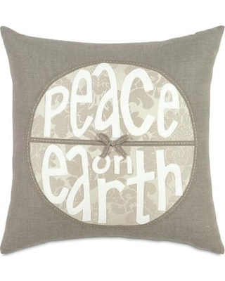 Eastern Accents Dreaming of a White Christmas Peace on Earth Throw Pillow ATE-330