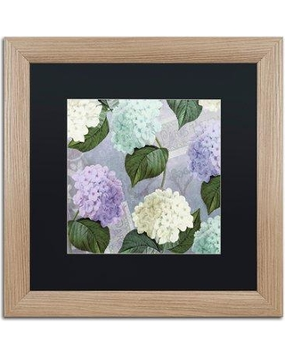 "Trademark Art 'Hortensia Lavenders' by Color Bakery Framed Graphic Art ALI4344-T1 Mat Color: Black Size: 16"" H x 16"" W x 0.5"" D"