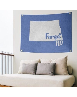 Deals For East Urban Home Fargo North Dakota Wall Tapestry Polyester In Blue Size 59 H X 80 W Wayfair 787bd8229e1b486ba7b0e4e17dd1bcd1