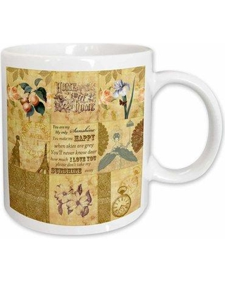 East Urban Home Vintage Gold Collage Of Art With Apricots And You Are My Sunshine Coffee