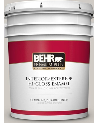 BEHR Premium Plus 5 gal. #PPU18-09 Burnished Clay Hi-Gloss Enamel Interior/Exterior Paint