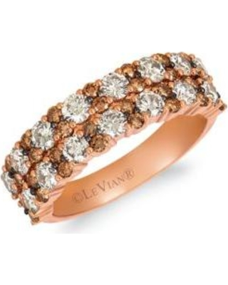 Le Vian Strawberry Gold Creme Brulee 1/5 ct. t.w. Nude Diamonds™, 1/2 ct. t.w. Chocolate Diamonds Ring in 14K Strawberry Gold