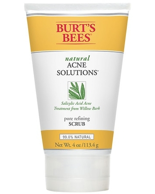 Burt's Bees Natural Acne Solutions Pore Refining Scrub, Exfoliating Face Wash for Oily Skin - 4.0 oz