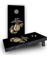 Custom Cornhole Boards USMC logo Cornhole Boards CCB504-C Bag Fill: Heavier Boards with All Weather Bags