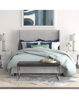 Charlotte Bed Color: Linen French Yellow, Size: California King