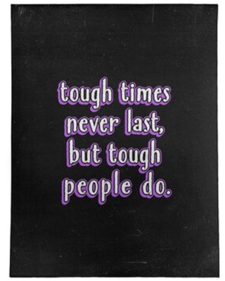 Tough Times Quote Chalkboard Style Poly Chenille Rug East Urban Home Rug Size: Rectangle 5' x 7'