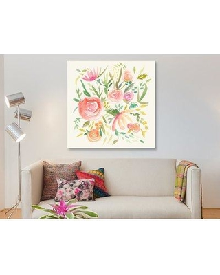 "East Urban Home 'Summer Fete II' Graphic Art Print on Wrapped Canvas ESUH8075 Size: 37"" H x 37"" W x 0.75"" D"